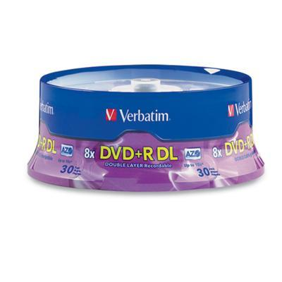Verbatim 96542 DVD+R DL (Double Layer) 8.5GB 8X - 30 pack  Spindle