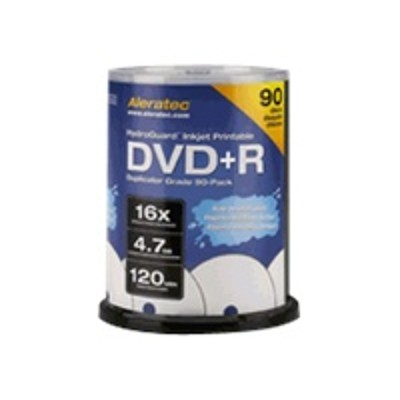 Aleratec 300117 Hydroguard - 90 X Dvd r - 4.7 Gb ( 120min ) 16x - Ink Jet Printable Surface - Spindle