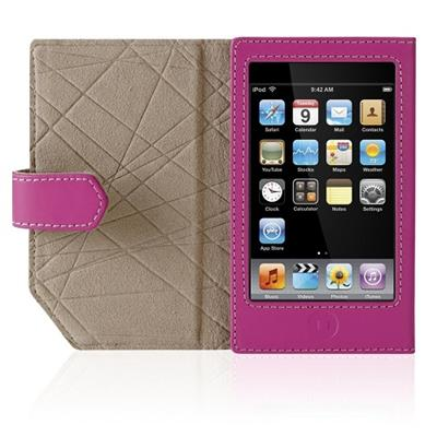 Belkin Leather Folio Case for iPod touch (2nd Gen) - Case for digital player - leather - pink - for Apple iPod touch
