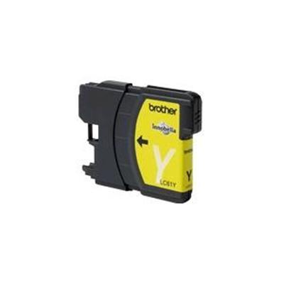 Brother LC61Y LC61-Y - Yellow - original - ink cartridge - for  DCP-255  295  395  J125  J140  MFC-5895  J220  J265  J270  J410  J415  J615  J630