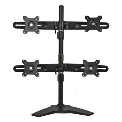 Discount Electronics On Sale Planar 997-5602-00 Black Quad Monitor Stand for LCD Displays