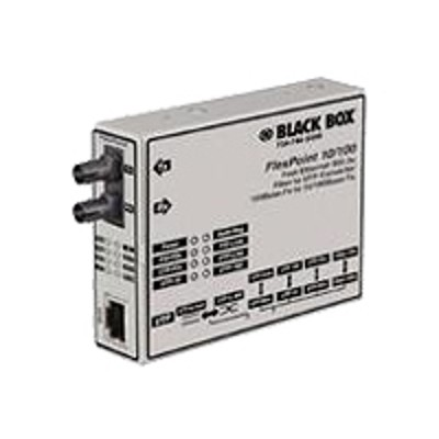 Black Box MT660A-MM FlexPoint Modular Media Converter - Short-haul modem - ST multi-mode / RJ-45/RJ-48 - up to 3.1 miles - T-1/E-1 - 1310 nm