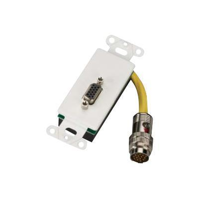 RapidRun Cabling System Break-Away Wallplate - video cable - VGA