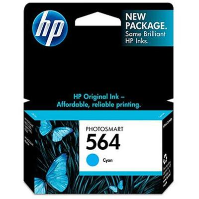 HP Inc. CB318WN#140 564 - 3 ml - cyan - original - ink cartridge - for Deskjet 35XX  Photosmart 55XX  55XX B111  6520  65XX B211  75XX  75XX C311  eStation C510