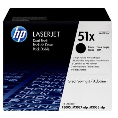 LaserJet Q7551X Dual Pack Black Print Cartridges
