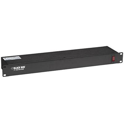 Black Box PS186A-R2 Power strip (rack-mountable) - AC 120 V - input: NEMA 5-15 - output connectors: 6 (NEMA 5-15) - 6 ft - for P/N: RM2515A  RM2525A