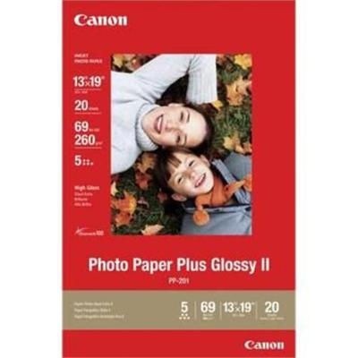 Canon 2311B026 Photo Paper Plus II PP-201 - Photo paper - glossy - Super B (13 in x 19 in) 20 sheet(s) - for PIXMA iP90  iX7000  MP210  MP470  MP520  MP610  MX3