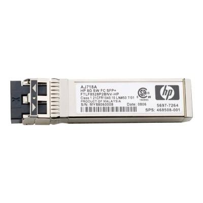 Hewlett Packard Enterprise Aj906a Short Range - Sfp  Transceiver Module - For Blc7000 Three-phase Enclosure  Storageworks Sn6000c 16  Sn6000c 32
