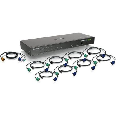 Iogear GCS16KIT 16-Port USB PS/2 Combo KVM Switch with Cables