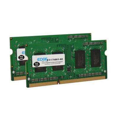 Edge Memory PE22088402 8GB (2X4GB) PC3-8500 DDR3 SODIMM 204-pin Unbuffered Non-ECC