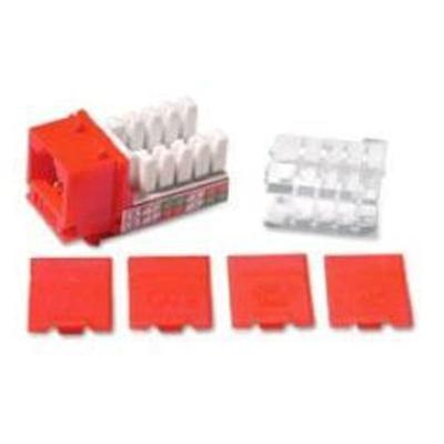 Cables To Go 29314 Modular insert - red - 1 port