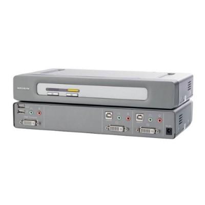 Linksys F1DN102D OmniView Secure 2-Port KVM Switch  EAL4+  NIAP  DVI