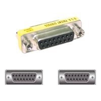Cables To Go 02772 Mini - Video gender changer - DB-15 (F) to DB-15 (F) - silver  yellow