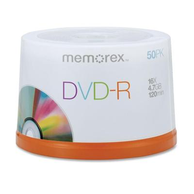 Imation 05639 50 Packs Memorex 16x DVD-R Media Spindle