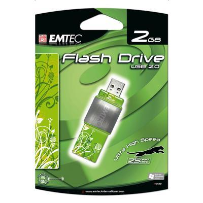 S420 LeFleur 2GB USB Flash Drive - Green