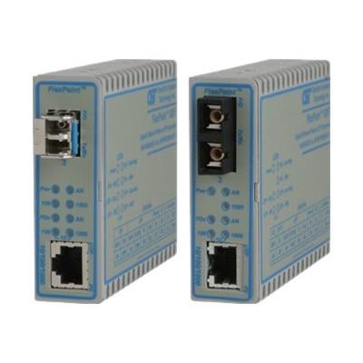 Omnitron Systems 4714-1 FlexPoint GX/T - Fiber media converter - GigE - 10Base-T 100Base-FX 100Base-TX 1000Base-T 1000Base-X - RJ-45 / LC multi-mode - up to