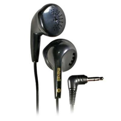 Maxell 190560 EB-95 Lightweight Stereo Earbuds Headphones - Black