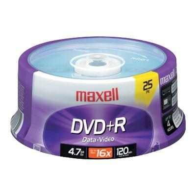 Maxell 639011 25 x DVD+R - 4.7 GB 16x - spindle