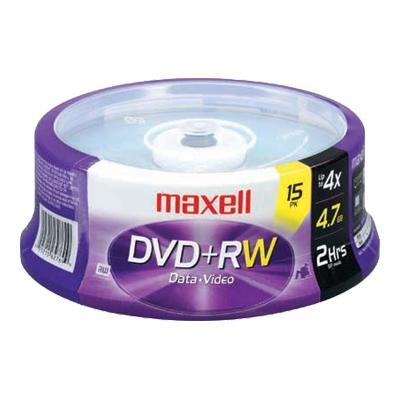 Maxell 634046 15 x DVD+RW - 4.7 GB 4x - spindle