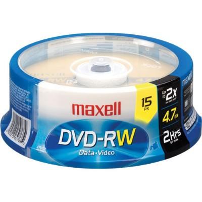 Maxell 635117 15 x DVD-RW 4.7 GB 2x Spindle Storage Media