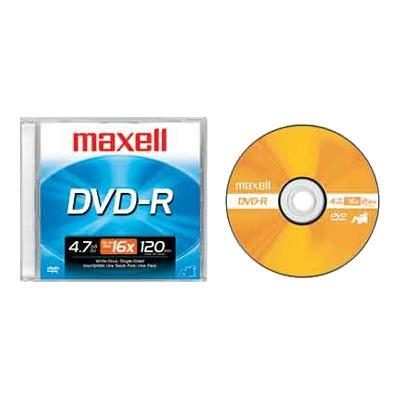 Maxell 638000 DVD-R - 4.7 GB 16x - jewel case