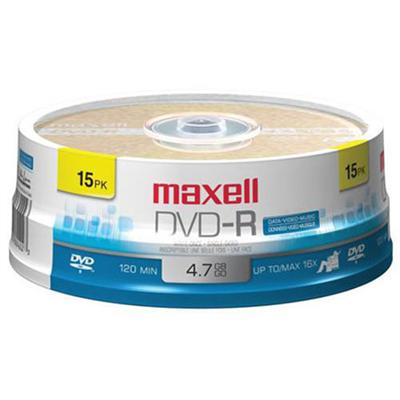 Maxell 638006 15 x DVD-R - 4.7 GB 16x - spindle