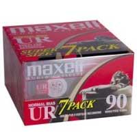 Maxell 108575 UR 90 - Cassette - 7 x 90min - Normal BIAS