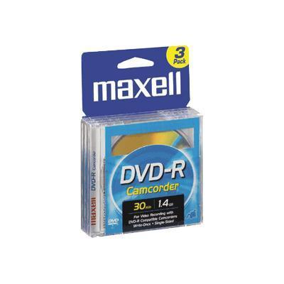 Maxell 567622 Camcorder - 3 x DVD-R (8cm) - 1.4 GB - jewel case