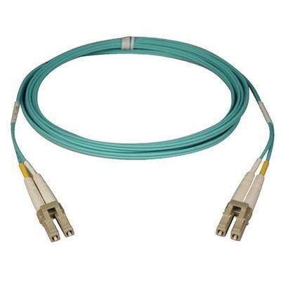 TrippLite N820-50M 50-Meter 10Gb Duplex Multimode 50/125 LSZH Aqua Fiber Patch Cable LC/LC