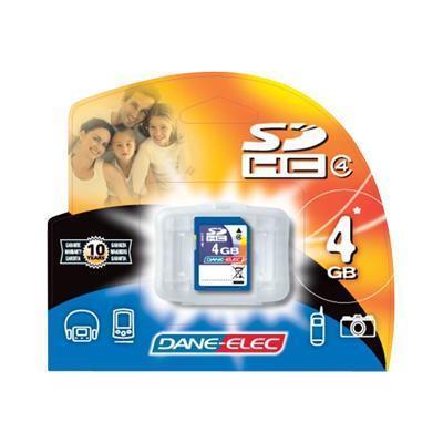 Dane-Elec DA-SD-4096-R 4GB High Speed Secure Digital (SD) Flash Memory Card