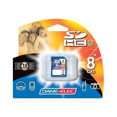 Dane-Elec DA-SD-8192-R 8GB High Speed Secure Digital (SD) Flash Memory Card