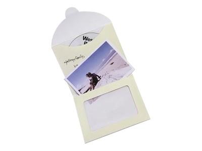 Allsop 29206 Photo CD Gift Envelopes - CD envelope - capacity: 1 CD - ivory (pack of 3 )