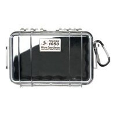 Pelican Products 1050-025-100 Micro Case 1050 - Case - stainless steel - black/clear