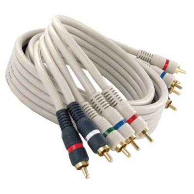 Steren Electronics 254-603iv Video / Audio Cable - Component Video / Audio - Rca (m) - Rca (m) - 3 Ft - Double Shielded - Satin Ivory