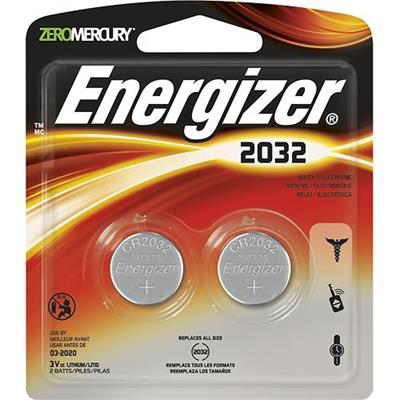 Energizer 2032BP-2 Energizer 2-Pack Remote Keyless Entry Lithium Batteries - automotive  garage door openers  etc - Limit of 5 per customer</fon