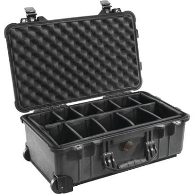 Pelican Products 1510-004-110 1510 Hard Case with Dividers - Black