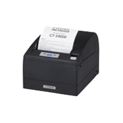 Citizen CT-S4000UBU-BK CT-S4000 - Receipt printer - two-color (monochrome) - thermal line - Roll (4.4 in) - 203 dpi - up to 354.3 inch/min - USB - cutter