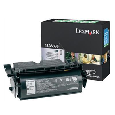 Lexmark 12A6835 Black High Yield Return Program Print Cartridge for T520/T522