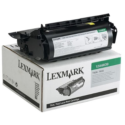 Lexmark 12A6839 T520/T522 Black High Yield Return Program Print Cartridge for Label Applications
