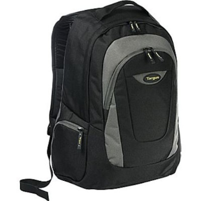 Targus TSB212 15.4 Sport Standard Backpack (Black/Platinum) - TSB212
