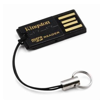 Kingston Digital FCR-MRG2 USB Micro Secure Digital Card Reader - Generation 2 (Black)