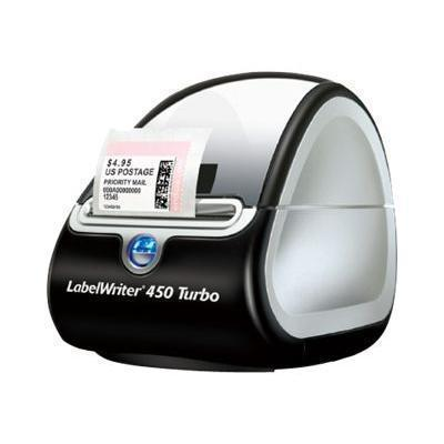 Dymo 1752265 LabelWriter 450 Turbo - Label printer - thermal paper - Roll (2.35 in) - up to 71 labels/min - capacity: 1 roll - USB