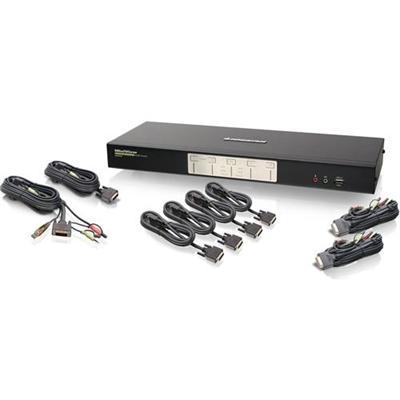 Iogear GCS1644 4-Port Dual View Dual-Link DVI KVMP Switch with Audio