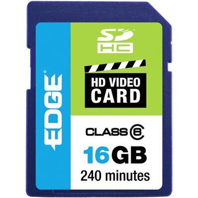 Edge Memory PE222604 16GB Edge Sdhc Hd Video Card Class 6