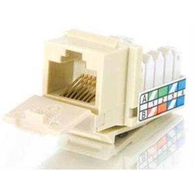 Cables To Go 35200 Cat5e 90º Keystone Jack - Keystone Jack - Rj-45 - Ivory