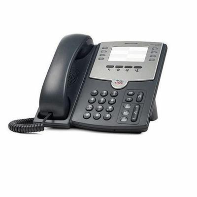 Cisco SPA501G Small Business SPA 501G - VoIP phone - SIP  SIP v2  SPCP - multiline - silver  dark gray - for Small Business Pro Unified Communications 320 with