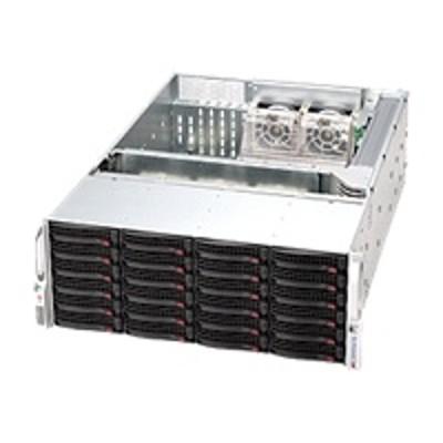 Super Micro CSE-846A-R1200B Supermicro SC846 A-R1200B - Rack-mountable - 4U - extended ATX - SATA/SAS - hot-swap 1200 Watt - black