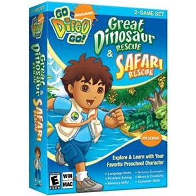 Go Diego Go! Great Dinosaur Rescue & Safari Rescue-2 Game Set - Complete package - 1 user - PC - CD - Win  Mac - English