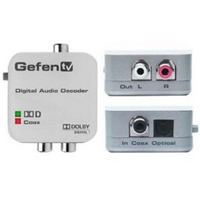 Gefen GTV-DD-2-AA TV Digital to Analog Decoder - Coaxial\/optical digital audio converter - white
