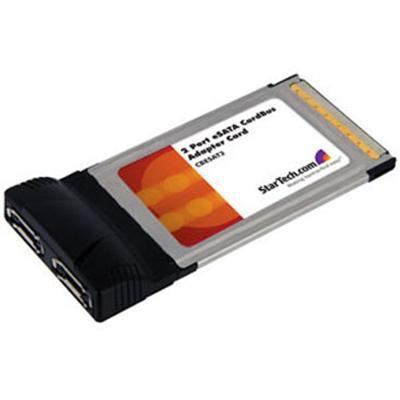 StarTech.com CBESAT2 2 Port CardBus eSATA Laptop Controller Adapter Card - Storage controller - 2 Channel - eSATA 1.5Gb/s - 150 MBps - CardBus